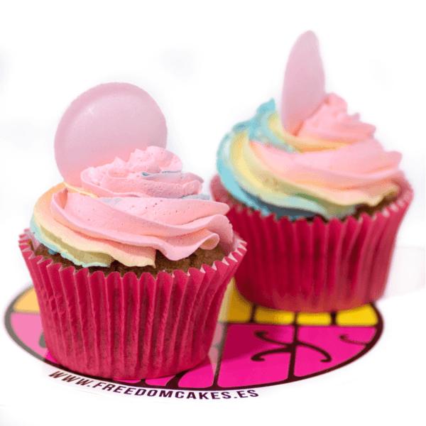 arcoiris cupcake vegano
